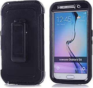Galaxy S6,Harsel Heavy Duty Shockproof 3-Layer Military Outdoor Sport Rubber Camouflage Wood Design Defender Case Cover wi...