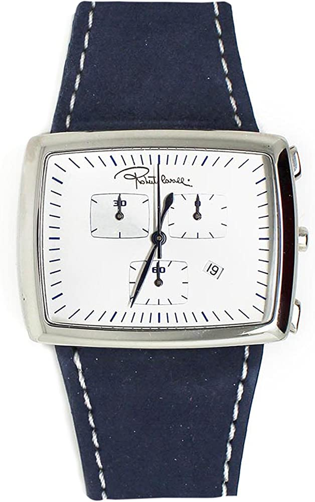Roberto cavalli, orologio,cronografo unisex,cassa in acciaio e cinturino in vera pelle RC000BN