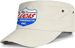 Heart Wolf Unisex Strapback Hat Adjustable Lucas-Oil-Logo- Military Caps for Mens Womens
