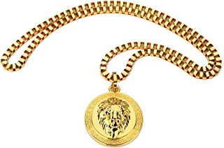 gold lion head chain