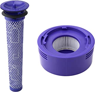 Wolfish Pre Filter + HEPA Post-Filter kit for Dyson V7, V8 Animal and Absolute Cordless..