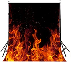 10x8ft Campfire Photography Background Night Flame Backdrop for Party Photo Banner Props DSFU043