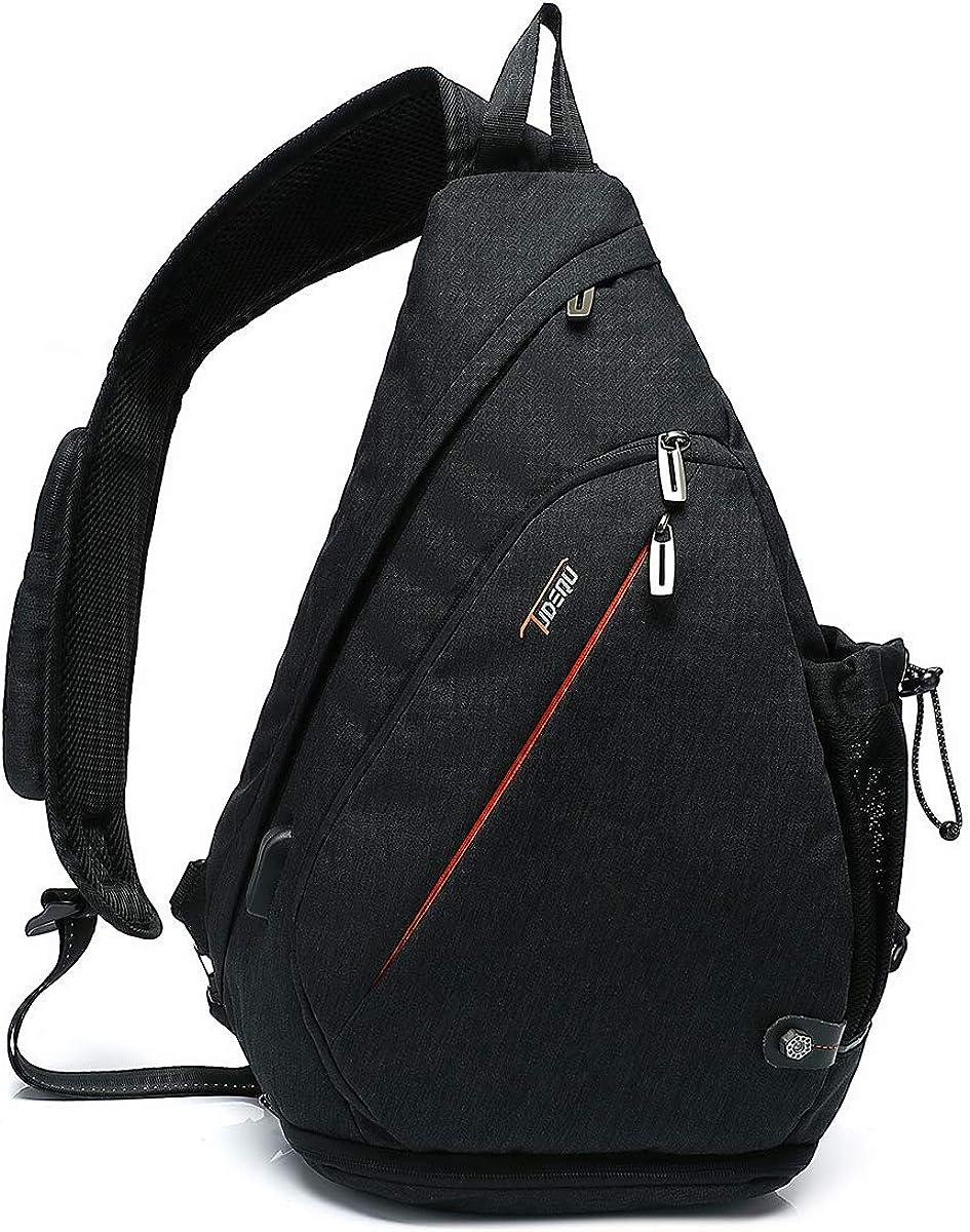 Tudequ Crossbody Backpack Sling Bag Pock Daypack service Hiking WET Al sold out. with