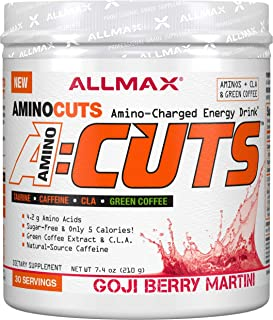 ALLMAX Nutrition A:CUTS, Amino Charged Energy Drink, Goji Berry Martini, 210g