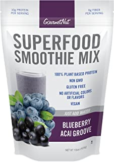 Gourmet Nut Superfood Smoothie Mix, Blueberry Acai Groove, 15 Ounce