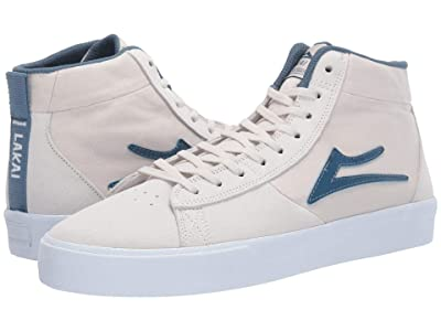 Lakai Newport Hi (White Suede) Men