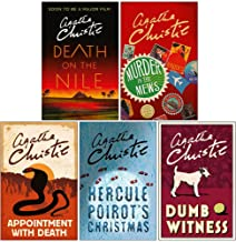Hercule Poirot Series 5 Books Collection Set By Agatha Christie (Death on the Nile, Murder in the Mews, Appointment with D...