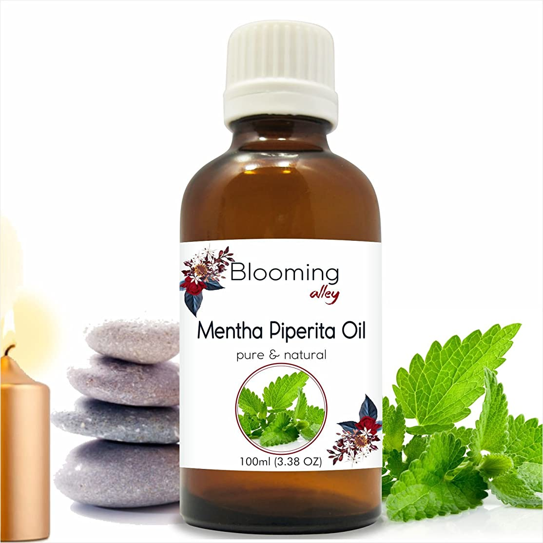 公然と不承認ペンフレンドMenthapipreta Oil(Mentha Piperita) Essential Oil 100 ml or 3.38 Fl Oz by Blooming Alley