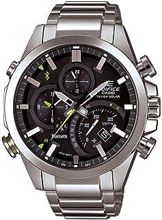 Casio - Reloj analógico para Hombres de Cuarzo con Correa en Acero Inoxidable EQB-500D-1ACF