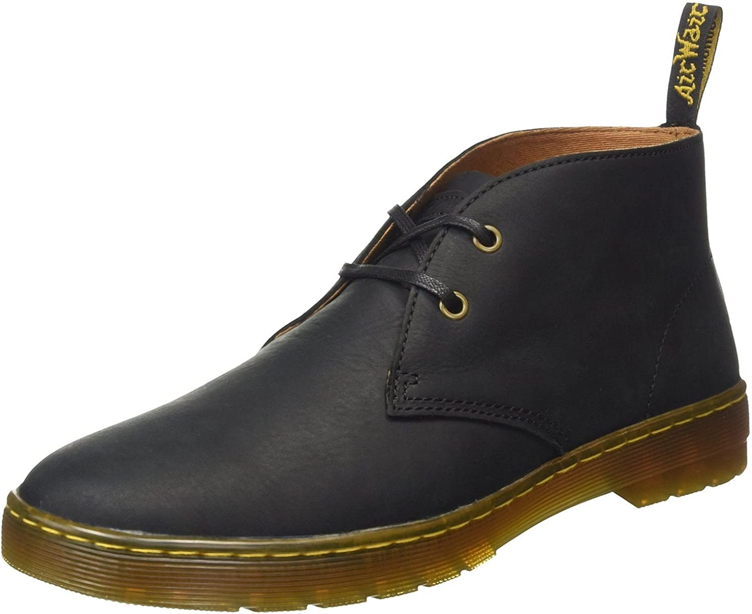 Dr. Martens Cabrillo Black Mens 2 Eyelet Leather Boots