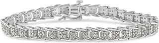 2.0 Ct Rose-Cut Diamond Fan-Shaped Bracelet – Flawless Style with Brilliant Shine