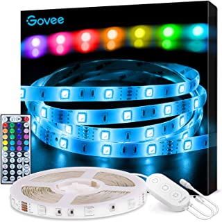 Best Govee LED Strip Lights, 16.4FT RGB LED Lights with Remote Control, 20 Colors and DIY Mode Color Changing LED Lights, Easy Installation Light Strip for Bedroom, Ceiling, Kitchen Reviews
