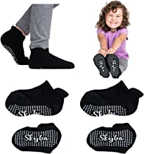 Skyba Toddler Socks With Grips Trampoline Socks - Slipper Socks For Kids Girls Boys Toddlers Nonslip Grippers Anti Skid