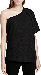 Womens Textured One Shoulder Blouse
