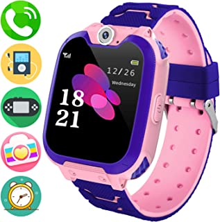 Kids Music Smart Watch Phone for Student, Smartwatch [SD Card Included] 1.54 inch Touch Screen Watches 2 Way Calls with Al...
