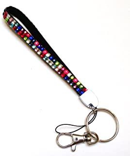 Rhinestone Crystal Bling Wrist Strap Key Chain (Wristlet) (Multicolor (Random Colors))