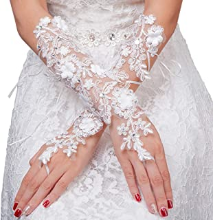 Women Gloves Long Lace Gloves for Women Wedding Evening Party