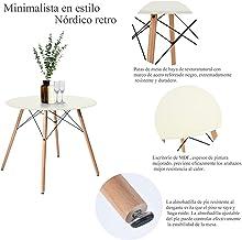 FurnitureR Eames Mesa de Comedor para 4 Personas Mesa de