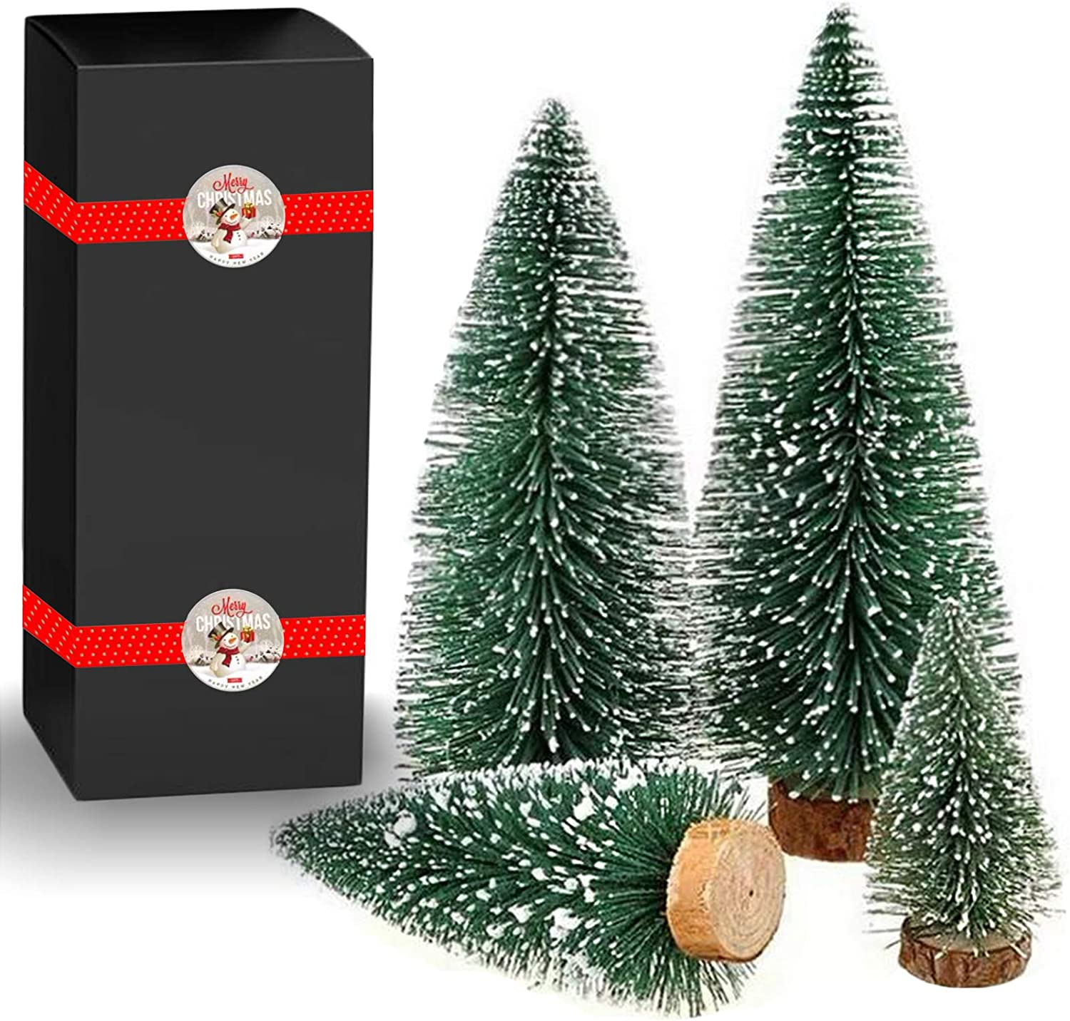 Desktop Miniature Christmas Trees Mini Popular brand in the world Pine Tree W Outstanding Snow and with