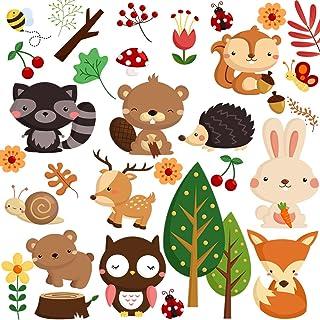 Best Dekosh Kids Wild Safari Animal Wall Stickers for Nursery Decoration   Jungle Theme Peel & Stick Owl Woodland Nursery Wall Decals for Baby Playroom Decor Review