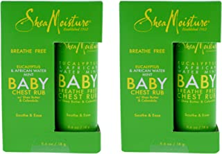 Shea Moisture Eucalyptus And African Water Mint Baby Chest Rub Ointment For Unisex, 0.6 Oz.