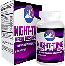 2-Month Nighttime Weight Loss Pills - Supplements - Night Time Fat Burner Supplement - 60 Capsules