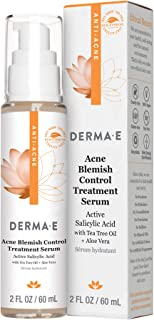 DERMA E Acne Blemish Control Treatment Serum - Highly effective moisturizing acne treatment for face - Helps to fight agai...