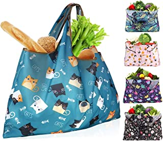 Sponsored Ad - Reusable Shopping Bags Foldable Washable 55LBS XX-Large Grocery Bags Heavy Duty Cloth Shopping Bags Tote Ec...