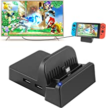 Switch TV Dock, Portable Mini Switch Docking Station Replacement for Nintendo Switch Dock, Compact Switch to HDMI Adapter with Extra USB 3.0 Port, Replacement Charging Stand Dock for Nintendo Switch