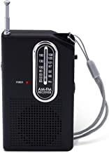 AM FM Portable Pocket Radio, Battery Operated Compact Transistor Radios with Great Recption, Built-in Speaker and Headphone Jack.
