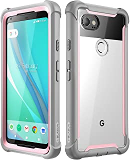 i-Blason Case for Google Pixel 2 XL 2017 Release, [Ares] Full-Body Rugged Clear Bumper Case with Built-in Screen Protector(Pink)