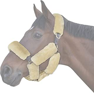 ECP Merino Sheepskin Halter Fleece Set for Horse Protection and Relief, 9 Pieces