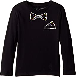 Barley Bowtie Long Sleeve Tee (Toddler/Little Kids/Big Kids)