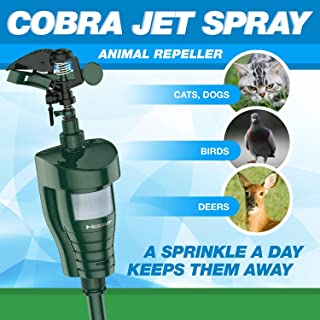 Hoont8482; Cobra Powerful Outdoor Water Jet Blaster Animal Pest Repeller – Motion Activated - Expels Cats, Dogs, Squirrels, Birds, Deer, Etc. Out of Your Property