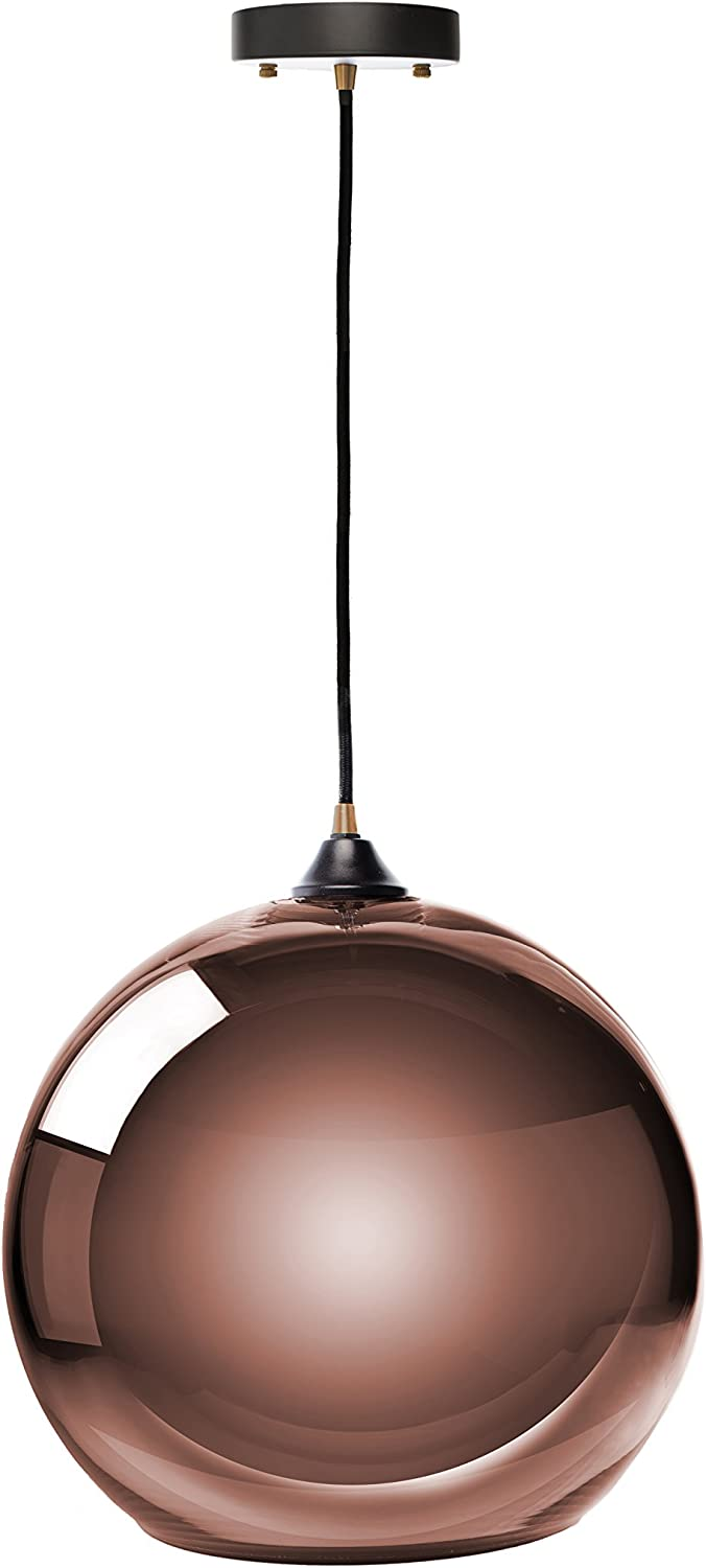 Finesse Decor PL-708 Single Sphere Pendant Lamp, Large, Copper
