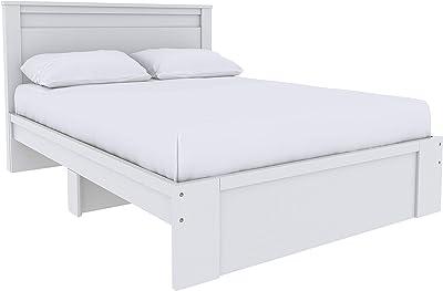 Amazon Basics Colombo Tête de lit plate, style classique - Lit double/queen size, Blanc