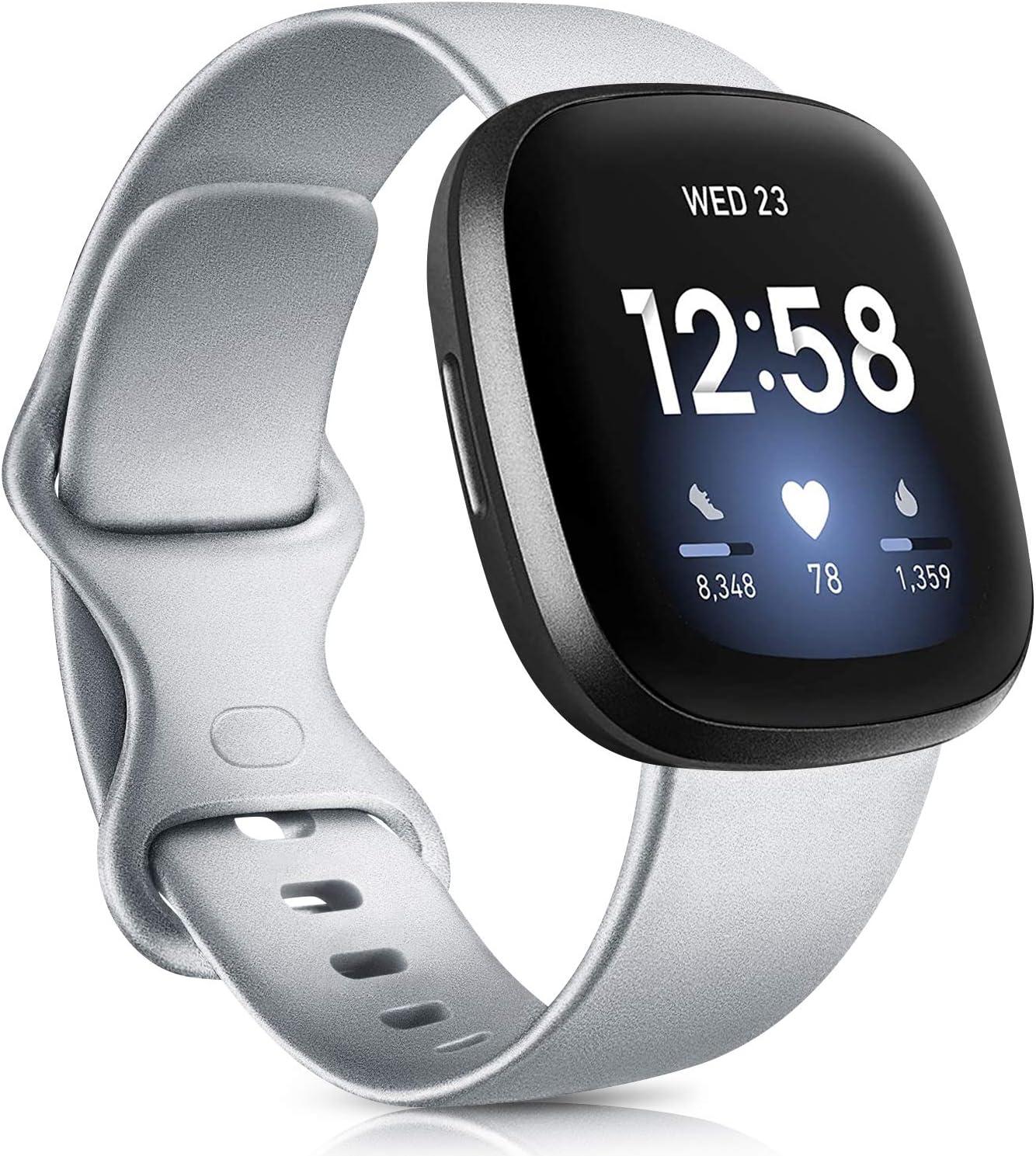 Tobfit Bracelet Compatible avec Fitbit Versa 3 Bracelet//Fitbit Sense Bracelet Remplacement Sport en Silicone Souple Bracelets pour Femme Homme