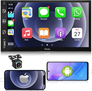 $159 » Car Stereo Double Din Car Multimedia Player-Apple Carplay and Android Auto, in-Dash Digital Media, 7 Inch Touchscreen, Voi...