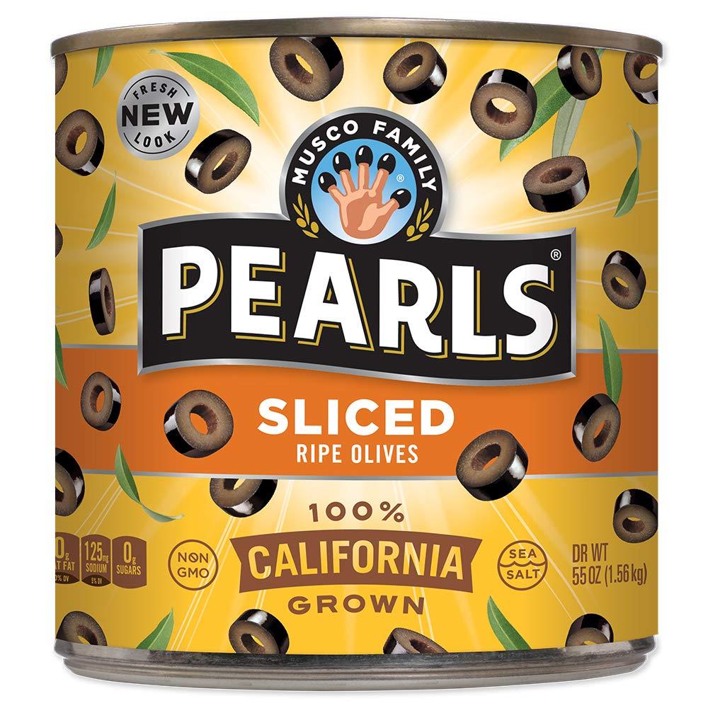 Max 44% OFF Pearls Sliced Houston Mall Ripe Black Olives oz 55
