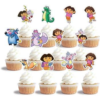 Remarkable Amazon Com Dora The Explorer Birthday Celebration Decoset Cake Birthday Cards Printable Benkemecafe Filternl