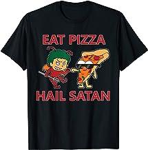 Eat Pizza Hail Satan for Halloween Satan Lovers Antichrist T-Shirt