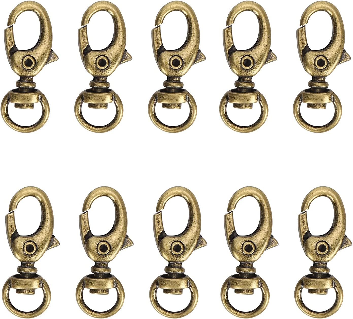 Zerodis 10 PCS Year-end annual account Lobster Clasp Rotating Max 80% OFF Hook Luggage Buckle Jewelr