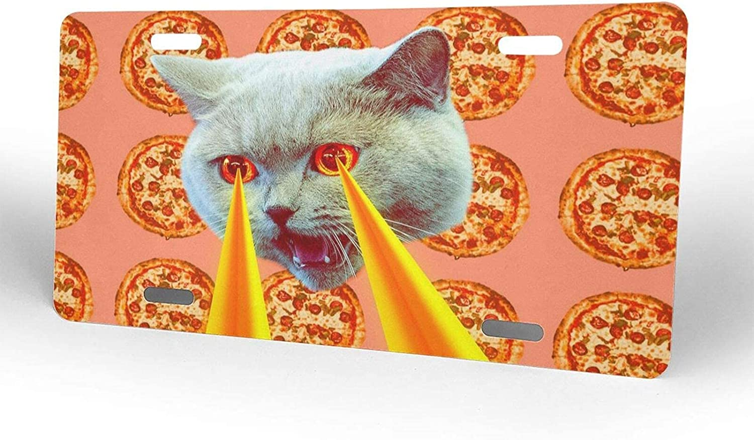 Pizza Cat Lasers from Eyes License Novelty Lic Plate Ranking TOP16 Ranking TOP18 Cover Metal