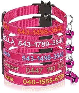 Collare per Gatto Personalizzato Breakaway con Campana, Fibbia di sgancio di Sicurezza Collare per Gatto Personalizzato, N...