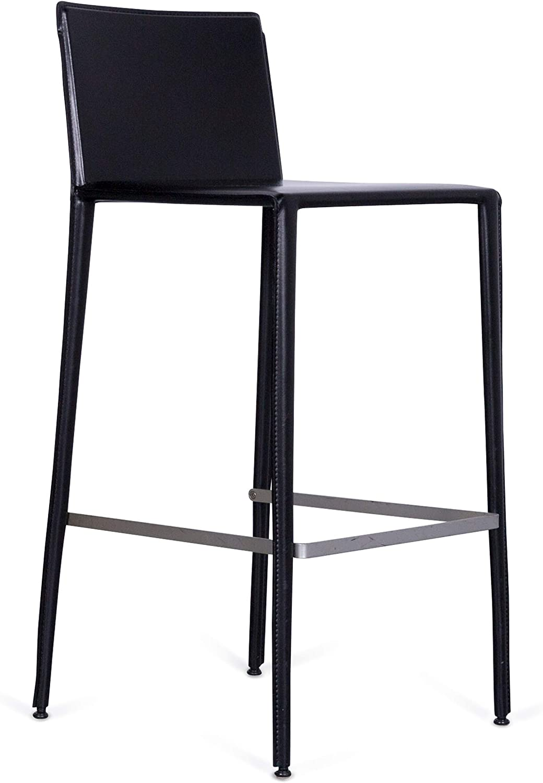 Arper Leder Bar Hocker Bistro Sessel black Modern Echtleder Swiss Air Lounge Zürich  3660
