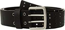 Flat Strap Belt w/ Multi Finish Studs
