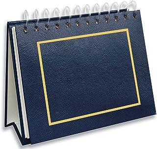 Pioneer Photo Albums Mini álbum de fotos de couro sintético encadernado com 50 bolsos para impressões de 10 x 15 cm, azul ...