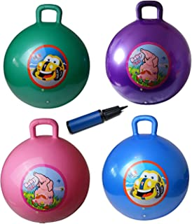 GreEco Space Hopper Ball Including Free Pump, Kangaroo Bouncer, Hippity Hop, Bouncing Toy, Diameter 55cm/22 Inch for Ages 6-9, Pink