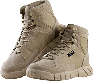 Men's Tactical Boots 6 Inches Lightweight Military Boots for Hiking Work Boots Breathable Desert Boots