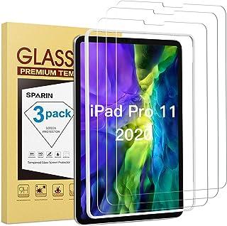 SPARIN Protector Pantalla iPad Pro 11 2020 y 2018 Modelo, [3-Pack] Cristal Templado iPad Pro 11 2020 Vidrio Templado [marco de instalación gratuita] [9H Dureza] [Alta Definicion] [Anti-Burbujas]